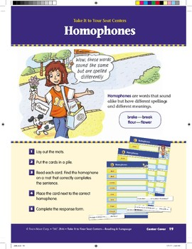 Homophones (Take It to Your Seat Centers)