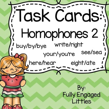Homophones Task Cards Set 2