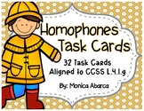 Homophones Task Cards - Correctly Using Frequently Confused Words {L.4.1g}