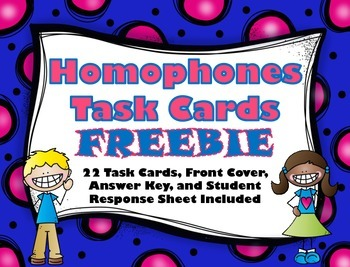 Homophones Task Cards - FREEBIE!