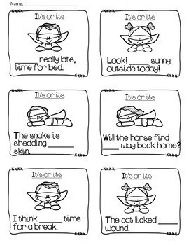 Homophones - Task Cards/Rules (It's or its/Your or You're/There,Their or They're
