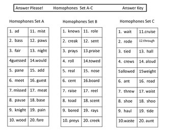 Homophones:  Task Cards and More