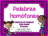 Homophones Task Cards in Spanish ( Homófonos )