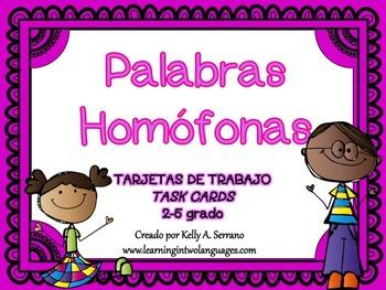 homophones task cards in spanish hom fonos by kelly serrano tpt. Black Bedroom Furniture Sets. Home Design Ideas