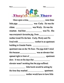Homophones: Their, There, They're