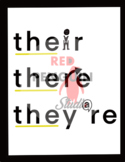 Homophones - Their There and They're Poster