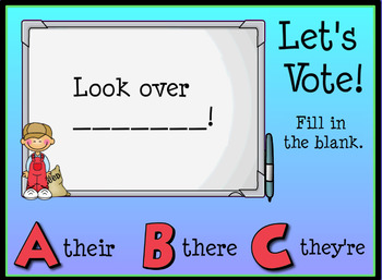 Homophones Their, They're, and There Promethean Flipchart Lesson