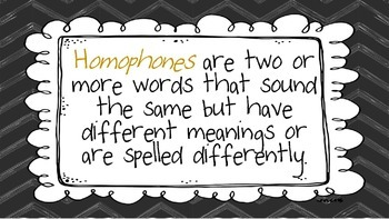 Homophones Their, There, They're Power Point