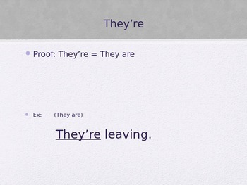Homophones They're Their There