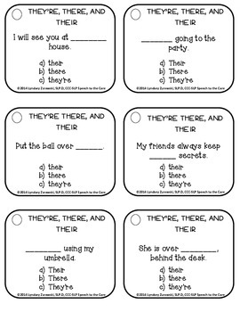Homophones- They're, There, and Their: Differentiated Therapy Packet