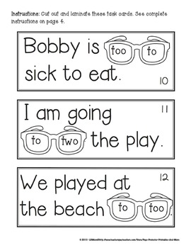 Homophones To Two Too