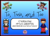 Homophones - To, Two, and Too - Promethean ActivInspire Lesson