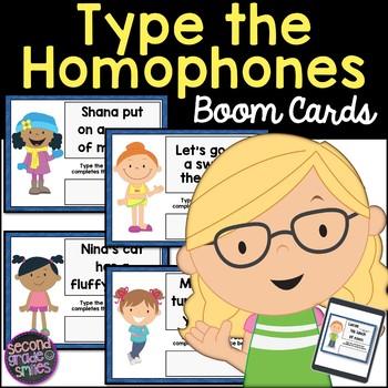 Homophones Type In Boom Cards
