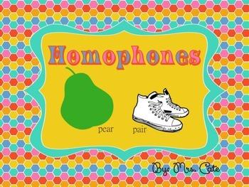Homophones/Homonym Unit {differentiated}