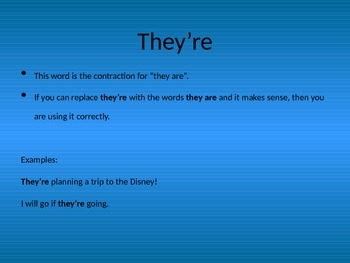 Homophones: Using There, Their, and They're
