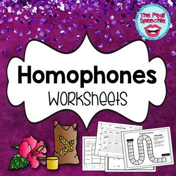 Homophones Worksheets | Speech and Language