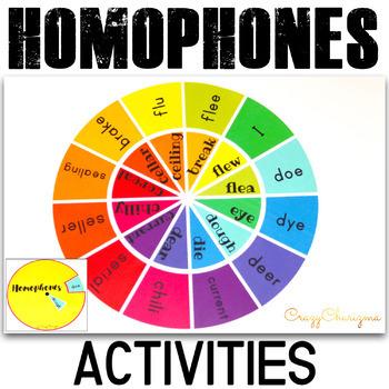 Homophones activities - Wheels