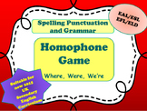 Homophones  -  Where. Were. We're. Wear.