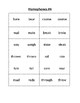 Homophones Word Study Lists (Six Total)