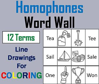 Homophones Word Wall Cards