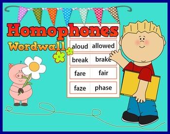 Homophones Word walls