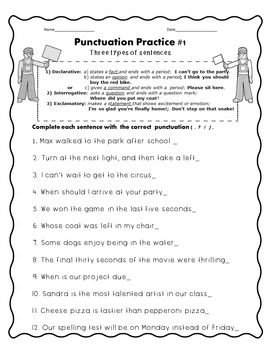 Punctuation Practice Comma Worksheets
