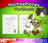 L.4.1.G - Homophones Worksheets