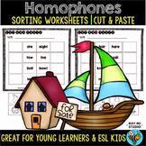 Homophones Worksheets | Cut and Paste