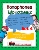 Homophones Worksheets-Set 4