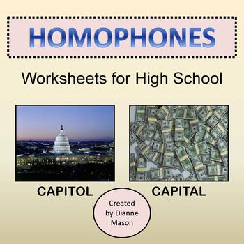 Homophones Worksheets for High School