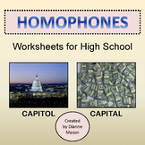 Homophones Worksheets for High School