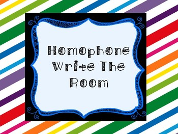 Homophones Write the Room