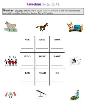 Homophones:  Writing, Puzzles, Matching and more…