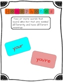 Homophones Your/You're ELA center