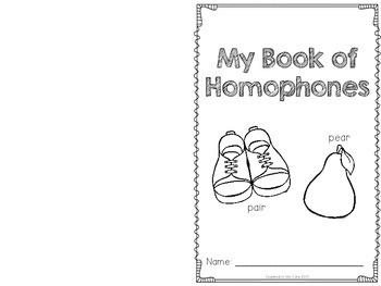 Homophones {a homophone activity pack designed for K-2}