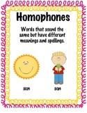 Homophones anchor chart