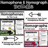 Homophones and Homographs Poster and Task Cards Bundle