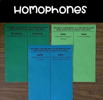 Homophones and Homographs