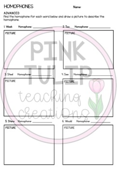 Homophones and Homographs - Grammar Worksheets with Answers