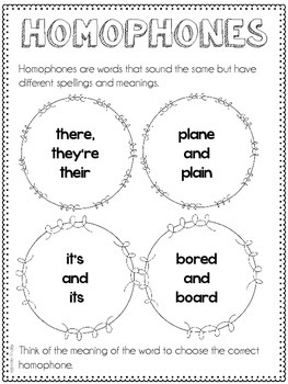 Homophones and Homographs Resources {Common Core Supplement (L.5.5c)}