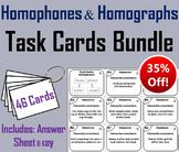Homophones and Homographs Task Cards Bundle (Academic Vocabulary Activity)