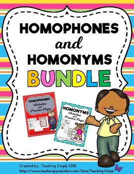 Homophones and Homonyms BUNDLE