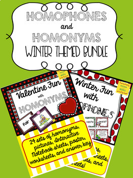 Homophones and Homonyms: Bundled Winter themes