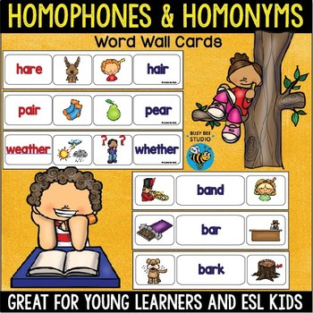 ESL Resources:Homophones and Homonyms Word Wall Cards