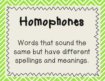 Homophones and Multiple Meaning Words Activities