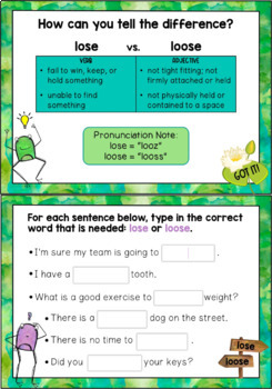 Homophones and Other Commonly Confused Words 2 - Focused Practice