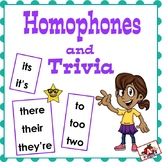 Homophone Game: Using Science & Social Studies Trivia