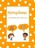 Homophones- Worksheets  for Grade 1, 2 & 3 /Google Classro