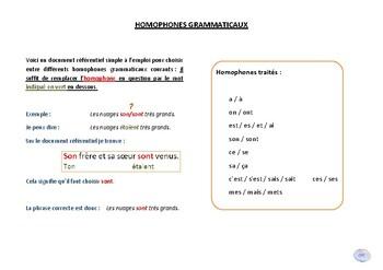 Homophones grammaticaux / Grammatical homophones