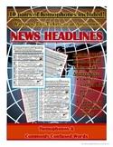 Homophones in News Headlines Daily Practice